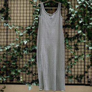 Ann Taylor Loft summer striped maxi dress